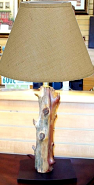 "Cedar Tree Lamp - Choice of Shades 26""H"