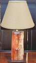 "Rustic Cedar Fence Post Table Lamp, 4 Shade Choices USA Made 26""H"