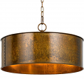 "Rochefort Rust Drum Pendant Light 20""Wx7""H"