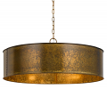 "Rochefort Rust Drum Pendant Light 30""Wx8""H"