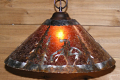 "Native American End of Trail Mica Pendant Light 14-18""W"