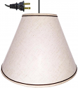 "Off White Country Linen Brown Flax Swag lamp 17""W - Sale !"