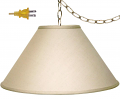 "Safran Linen Coolie Plug In Swag Lamp 17-21""W"