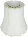 "Scallop Bell Drum Silk Lamp Shade Cream, White 14-18""W"