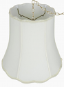 "Scallop Bell Drum Silk Swag Lamp Cream, White 14-18""W"