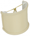"Beige Silk Sconce Shade 4""W"