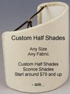 Custom Sconce Shades
