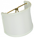 "White Silk Sconce Shade 4""W"
