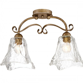 "Chatsworth Vintage Gold Semi Flush Ceiling Light 20""Wx13""H"