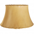 "Shallow Bell Sheep Skin Leather Lamp Shade 5-19""W"
