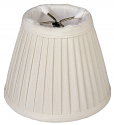 "Side Pleated Silk Chandelier Shade Cream, White 5""W"