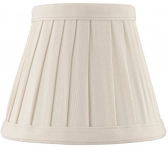 "Side Pleated Chandelier Shade Cream, White 5""W"