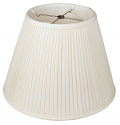 "Side Pleated Lamp Shade Cream, White 8-20""W"