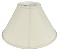 "Straight Side Coolie Shade Cream, White, Beige, Black 16-24""W"