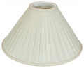 "Roll Pleated Coolie Lamp Shade Cream or White 16-22""W"