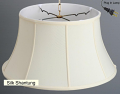 "Classic Bell Silk Swag Lamp 17-19""W"