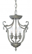 """Fulton Rubbed Silver Candlestick Pendant 13""""Wx13""""H"""