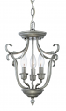 "Fulton Rubbed Silver Candlestick Chandelier 13""Wx13""H"