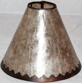 Silver Mica Lamp Shade Jagged Frame