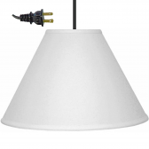 "Simple Linen Swag Light 14-16""W"