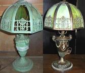 Green Corroded Slag Lamp Restoration & Refinishing