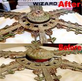 Antique Slag Lamp Shade Repair