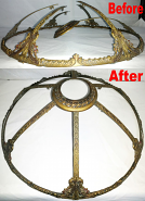 Slag Lamp Shade Frame Repair