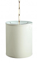 "Linen Drum Swag Lamp 10""Wx10""H"