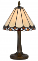 "Small Mission Tiffany Lamp Jeweled Filigree Shade 13""H - Sale !"