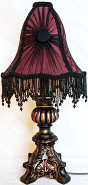 """Small Vintage Victorian Lamp 16""""H"""