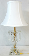 """Small Vintage Crystal Lamp 19""""H"""