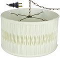 "Smock Pleated Silk Shallow Drum Swag Lamp 18""W - Sale !"