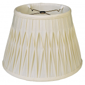 "Smock Pleated Silk Empire Lamp Shade Cream, White 12-18""W"