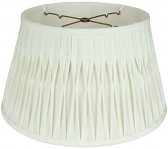 "Smock Pleated Silk 6 Way Floor Lamp Shade Cream, White 17-19""W"