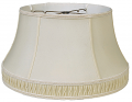"Pleated Gallery Silk Floor Lamp Shade Cream, White 17-19""W"