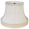 "Smock Pleated Gallery Bell Silk Lamp Shade Cream, White 12-20""W"