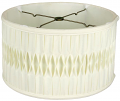 "Smock Pleated Silk Shallow Drum Lamp Shade Cream, White 12-18""W"