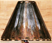 Dark Rust Southwestern Metal Lamp Shade