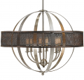 "Brushed Steel Wire Mesh Globe Chandelier 26""Wx22""H - Sale !"