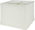 """Square Box Linen Lamp Shade Cream, Beige 8-16""""W"""