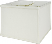 "Square Box Linen Lamp Shade Off White, Beige 8-16""W"
