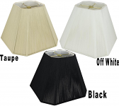 "Square Cut Corner Silk String Lamp Shades 8-20""W"