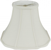 "Square Bell Out Corner Silk Lamp Shade Cream, White 12-18""W"
