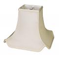 "Asian Oriental Pagoda Lamp Shade Cream, White, Black 10-16""W"