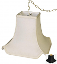 """Square Silk Asian Oriental Pagoda Swag Lamp Cream, White, Black 10-16""""W"""
