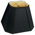 "Square Pleated Corners Black Lamp Shade 12-18""W"