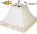"Smock Pleated Silk Square Swag Lamp 12-16""W - Sale !"