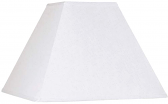 "Square White Linen Lamp Shade 14-21""W"