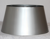 "Metal Drum Lamp Shade Stainless Steel Finish 17""W - Sale !"