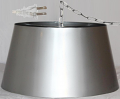 "Stainless Steel Plug In Pendant Swag Light 17""W - Sale !"